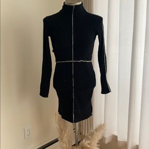 Aritzia dress with added contemporary lines